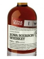 "Cedar Ridge ""Iowa Bourbon Whiskey"" Barrel No.201 Bottle No. 120"